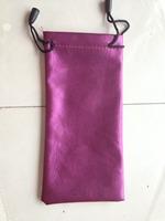 2014 manufacturers custom-made leather glasses bag, sunglasses bag, manufacturers selling price,PINK