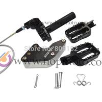 Pit bike CNC aluminum throttle settle/chain guard / foot pegs refitting kits for refit dirt bike/pit bike spare parts