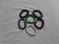 Large granular bead jade Flower Stone Bracelet