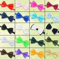 EQ6901 Adjustable Plain Formal Wedding Groom Tuxedo Suit Pre Tied Dicky Bow Tie Bowties
