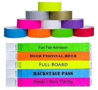 Free Shipping 5000pcs/lot  Wholesales  Pirate Tyvek Numbered  Wrist Band Ticket  with custom logo Raffle Party