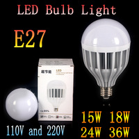 20pcs/lot  Wholesale 5730 Led Lamps E27 220V 15W 18W 24W 36W Led Bulb White/Warm White Energy Saving Led Light Lamps Spotlight