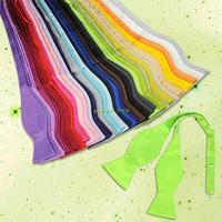 EQ5549 Fashion Adjustable Men's Solid Color Imitation Silk Self Bow Tie Necktie Ties