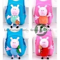 Free shipping 2014 New children school backpacks children cartoon bag peppa pig bag school backpacks