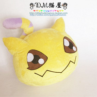 8.7'' Digimon: Digital Monsters / Digimon Adventure Nyaromon Fox Tail Handmade Stuffed Plush Toy Cos Props