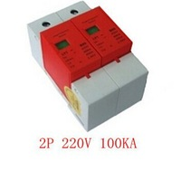 100KA 2P 220V surge protector device for lightning protection