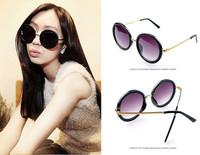 Free Shipping New Designer Unisex Vintage Tortoise Frame Lens Retro Round Sunglasses Eyeglasses Glasses Style Vintage