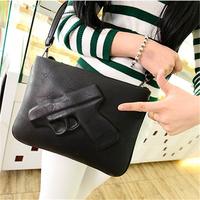 2014 women's handbagvlieger vandam style fashion PU Leather envelope bag pistol bag vintage messenger bag