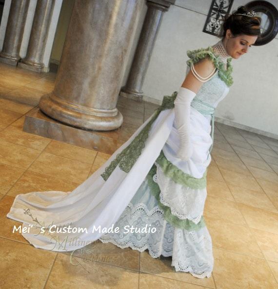 Wedding amp opera evening dress with train amp flowers holiday dress