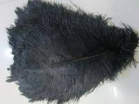 """P013 Wholesale 50pcs/lot 30-35CM """"12-14""""dyed ostrich plumage ostrich feather centerpieces wedding black ostrich feathers"""