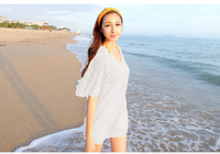 Summer 2014 Fashion Women's s Lace Crochet Bikini Swimwear Beach Cover Up Women,Sexy White Bathing Suit Cover Ups