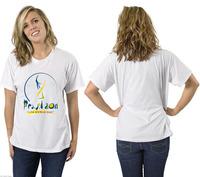 2014 Brazil soccer theme T shirt printing logo 100% combed cotton 180gsm men's short sleeve plain white t shirt