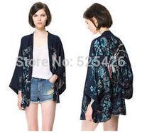 New  Vintage Retro Women Ethnic Phoenix Loose Style Kimono Jacket Coat Novelty Phoenix Printed Blouse Shirts Fashion Kimono