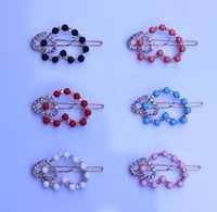 girl hair accessories alloy hair jewelry The frog clip hair pin women hair love hearts 2014new product