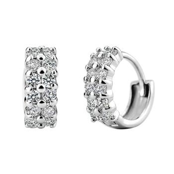 2014 новый стерлингового серебра S925 ювелирные горячая корейский стиль серьги звездное AAA качества ранга стад серьги