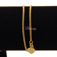 Slim 2mm Womens Ladies Girls 18k Yellow Gold Filled Curb Chain Foot Cheap Anklets