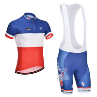 New 2014 FDJ French Champion Cycling Jersey / Cycling (Bib) Shorts / High Quality Cycling Clothing Size:S-XXXL Free Shipping