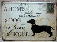 metal crafts Christmas Gift Retro poster Vintage tin signs dog home bar cafe Pub wall decor metal painting 15*20cm