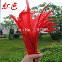 100pcs/lot Rooster feather Cock Tail Feather red chicken feather rooster tail feathers 35-40cm/14-16inch