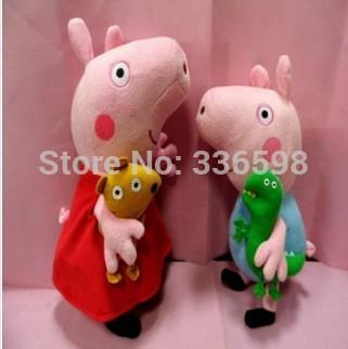 """30cm peppa and george"" Peppa Pig Toys New Baby Anime Toys Pepa Pig Peppa Pig Plush Family(China (Mainland))"