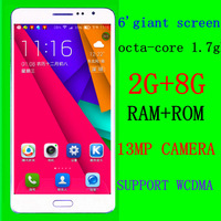 coogen newest 6-inch octa-core Android smartphone 13.0mp dual camera dual sim 2gram 8grom support 3g wcdma