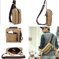 HOT New 2014 Fashion Casual Canvas Waist Packs Retro Men Daily Waist Bags Student School Travel Bags