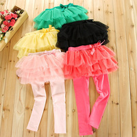 Baby girls' pants kids vest veil tutu skirt legging pants Girl trousers