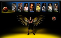 Free Ship 2010 MVP Kobe Bryant Basketball Canvas Printed Image Boy's Room Decorate Painting Picture
