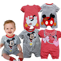 2014 Hot sale 100% Cotton Baby animal clothes rompers Baby Ha Clothing Baby suits sets 3 sizes (12 sets/lot) Free shipping