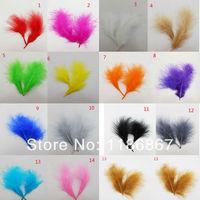 Wholesale 200pcs/Lot Turkey Marabou Feathers washed goose down 8-16 cm Fluffy Dress jewelry/Christmas/Halloween decoration decor