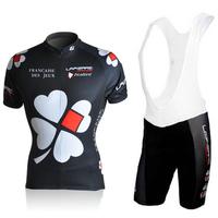 2010 FDJ Women's Short Sleeve Cycling Jersey and Cycling (Bib) Shorts Kit  High Quality Women Cycling Clothing Free Shipping