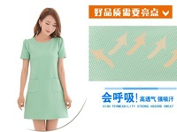 FANRONG 2014 spring and summer women's slim basic plus size knitted short-sleeve gentlewomen princess one-piece dress