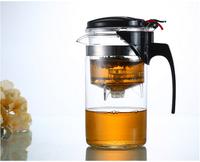 new arrival simple elegant tea kettle 1000 ml tea pot heat-resistant glass teapot convenient office tea pot set 1