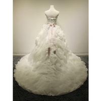 big money small tail wedding stylish simplicity Wang Spring 2014 new style wedding dress customized slightly