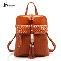 Free shipping cowhide backpack female bag
