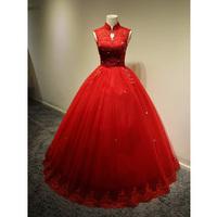 exclusive bridal dress straps Qi 2014 newest retro luxury diamond wedding