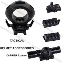OPS FAST / ACH / MICH2000 militares 5pcs airsoft tático guia transportadora acessórios módulo capacete paintball trilho / set(China (Mainland))