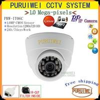 100%Original 1/4 CMOS 1280x720 HD 24pcs IR LEDS ONVIF IR Cut Night vision 720P Mega pixel indoor Network IP Camera Free shipping