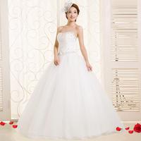 Princess sweet heart tube top new arrival diamond 2014 slim bandage wedding dress Freeshipping
