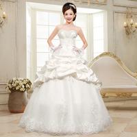 The bride wedding dress formal tube top sweet fashion wedding dress Freeshipping