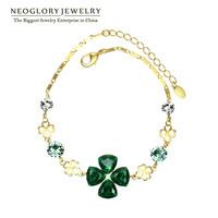 Neoglory  Rhinestone Crystal 14K Gold Plated Bangles & Bracelets for Women 2014 Spring New Arrival