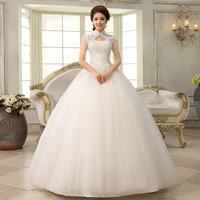 New arrival famous design hot sale princess slit neckline vintage bridal lace wedding dress Freeshipping