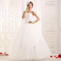 2014 New design princess formal bandage tube top wedding dress crystal slim bride dress Freeshiping