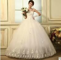 2014 new arrival formal dress vintage princess fashion tube top strap style wedding dress Freeshipping