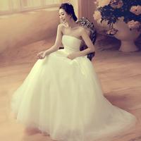 New arrival princess slim tube top bandage wedding dress bride dress Freeshipping