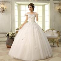 New sweet wedding dress slit neckline earth auger spaghetti strap slit neckline wedding dress Freeshipping