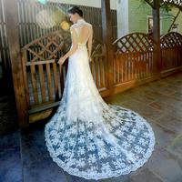 2014 New design wedding dress fish tail lace wedding formal dress bride dress Freeshipng