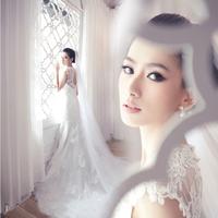 Lace slim wedding dress bride fish tail long trailing fashion sweet dress Freeshipping