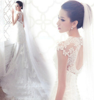 2014 new famous design top quality sweet prinsess wedding dress bride dress Freeshipping