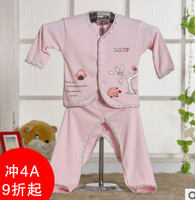 free shipping Newborn infants 0-3 months suit baby underwear sets Pure cotton baby clothes pin tied monk baby I love you